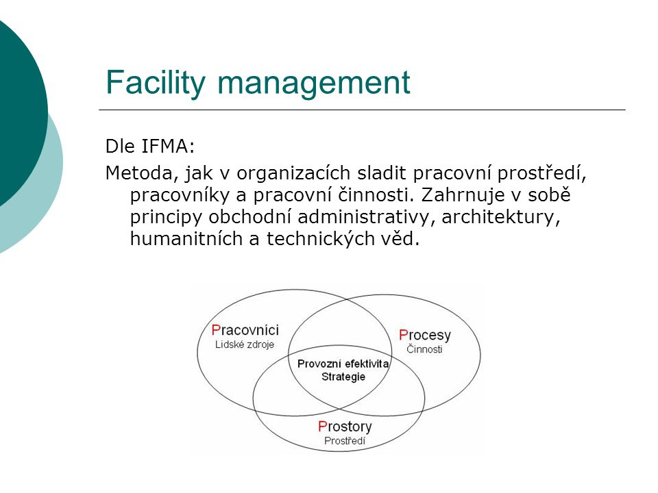 Facility management Dle IFMA:
