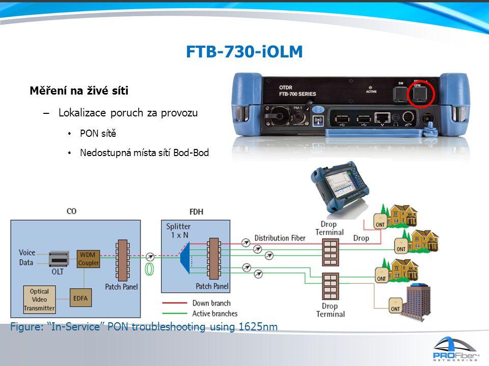 FTB-730-iOLM Měření na živé síti Lokalizace poruch za provozu