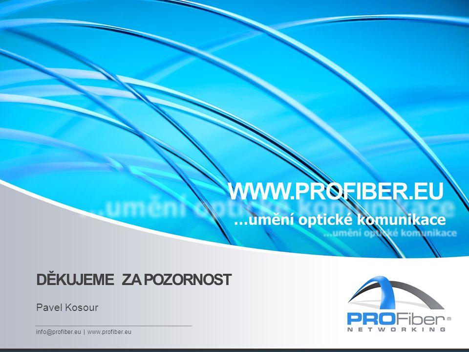 WWW.PROFIBER.EU DĚKUJEME ZA POZORNOST Pavel Kosour