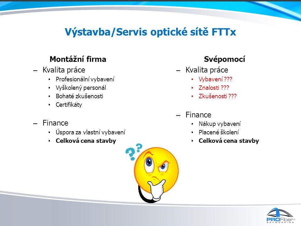 Výstavba/Servis optické sítě FTTx
