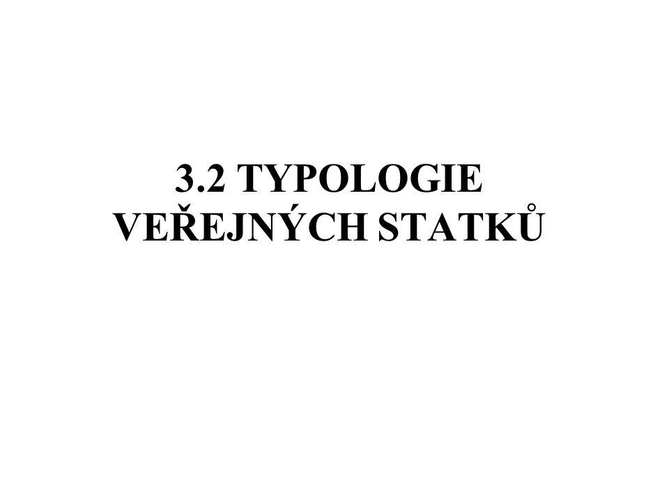 3.2 TYPOLOGIE VEŘEJNÝCH STATKŮ