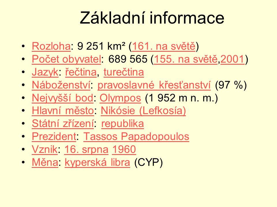 Základní informace Rozloha: 9 251 km² (161. na světě)