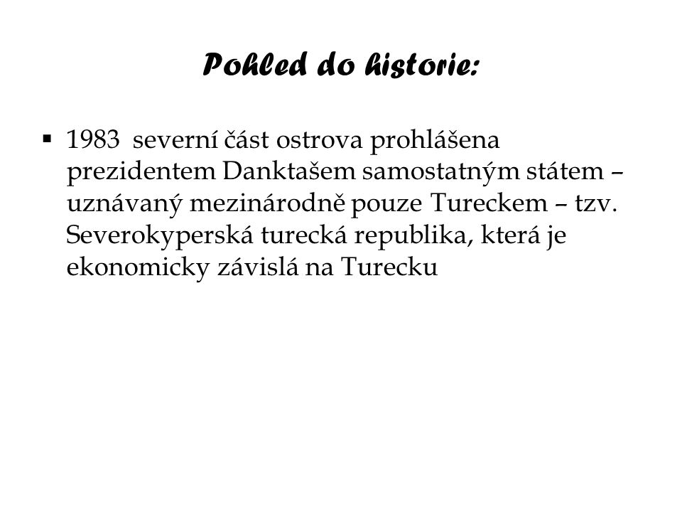 Pohled do historie: