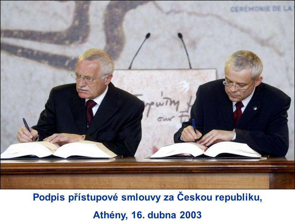 Podpis přístupové smlouvy za Českou republiku,