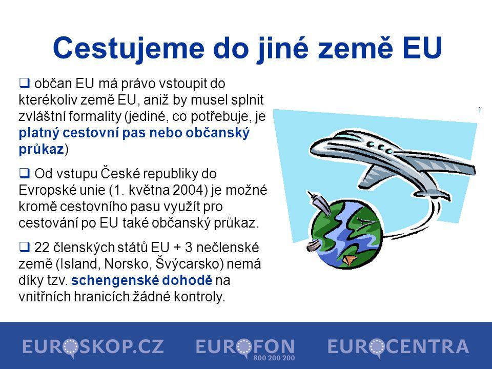 Cestujeme do jiné země EU