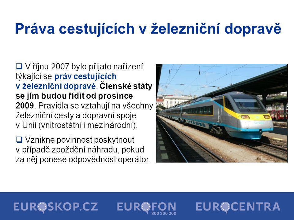 Práva cestujících v železniční dopravě