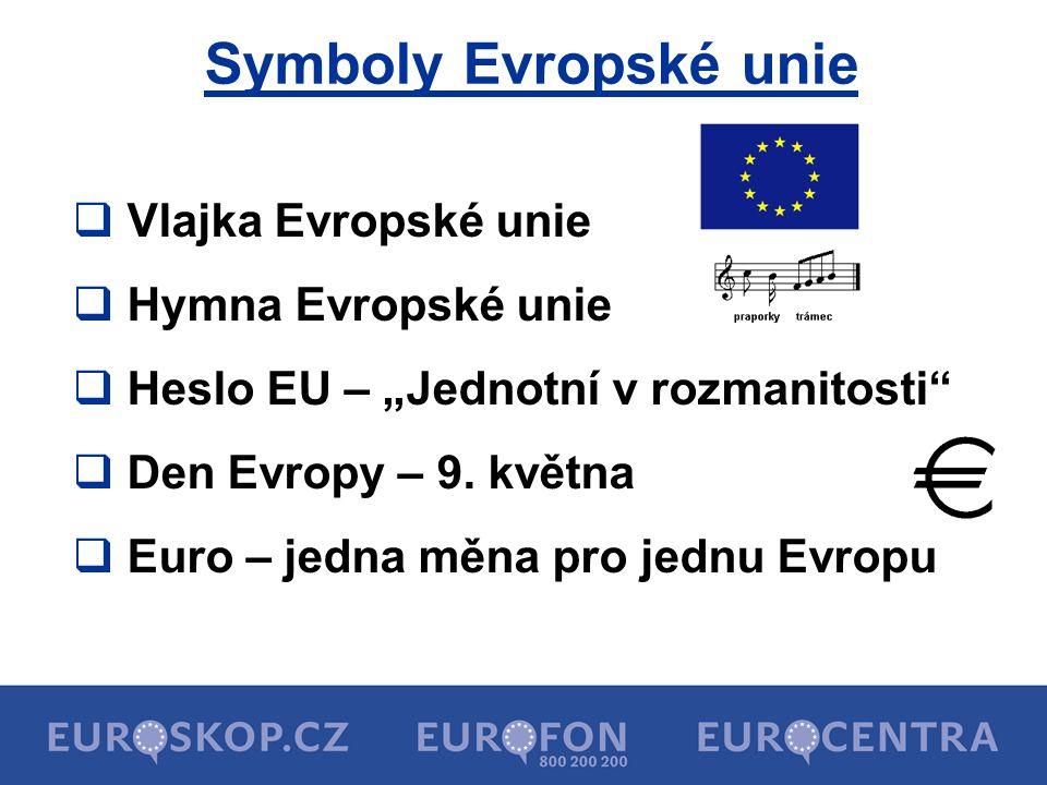 Symboly Evropské unie Vlajka Evropské unie Hymna Evropské unie