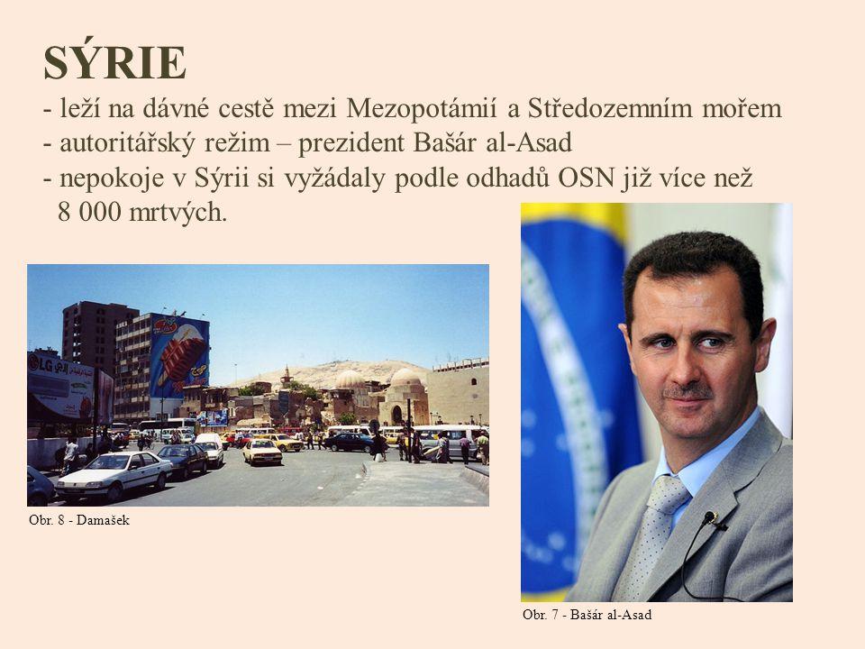 SÝRIE leží na dávné cestě mezi Mezopotámií a Středozemním mořem