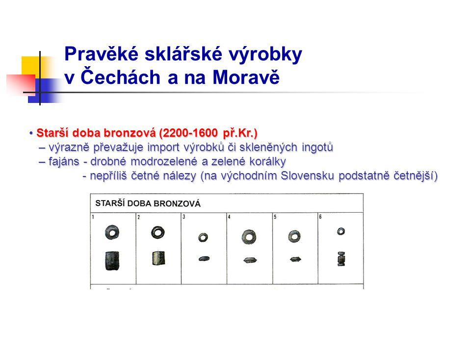 Pravěké sklářské výrobky v Čechách a na Moravě