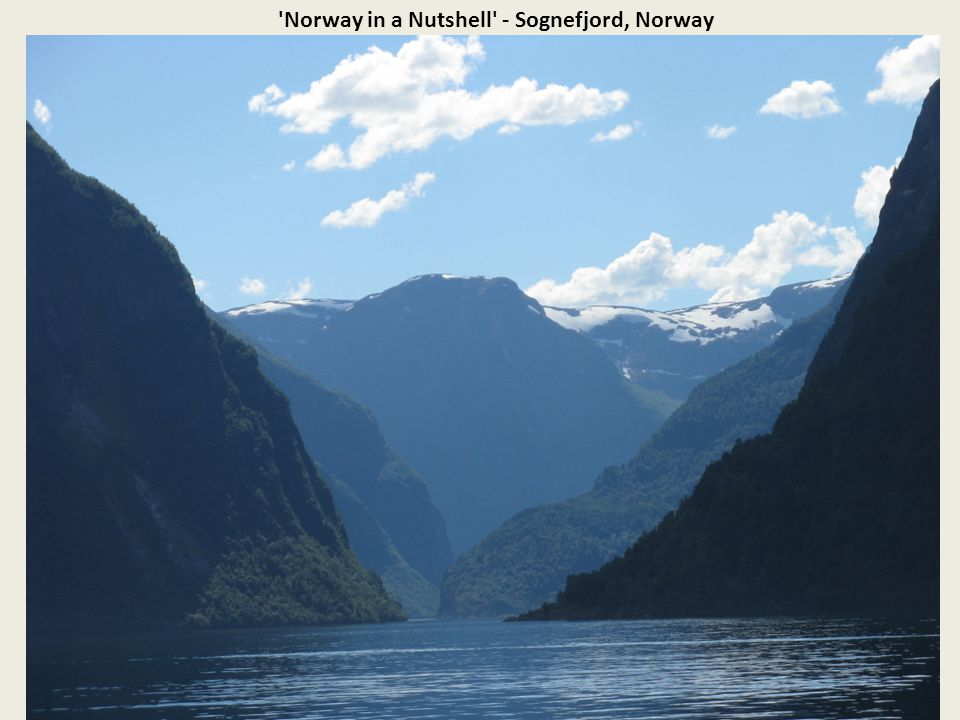 Norway in a Nutshell - Sognefjord, Norway