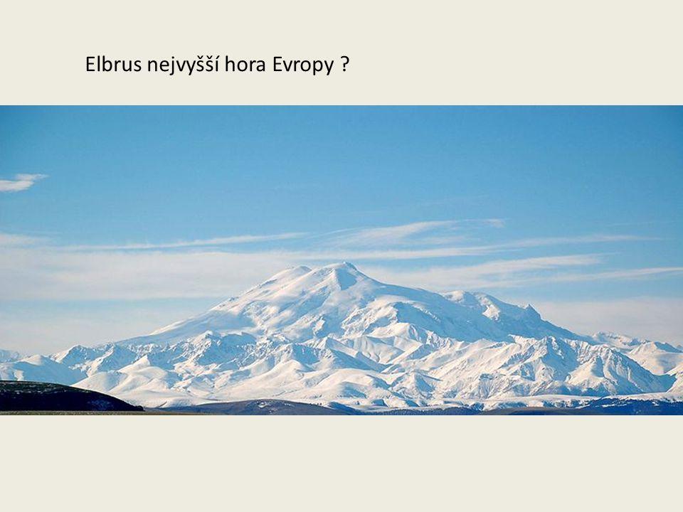 Elbrus nejvyšší hora Evropy