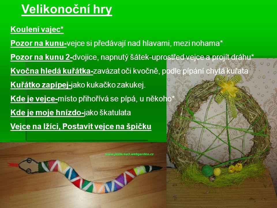 Velikonoční hry Koulení vajec*