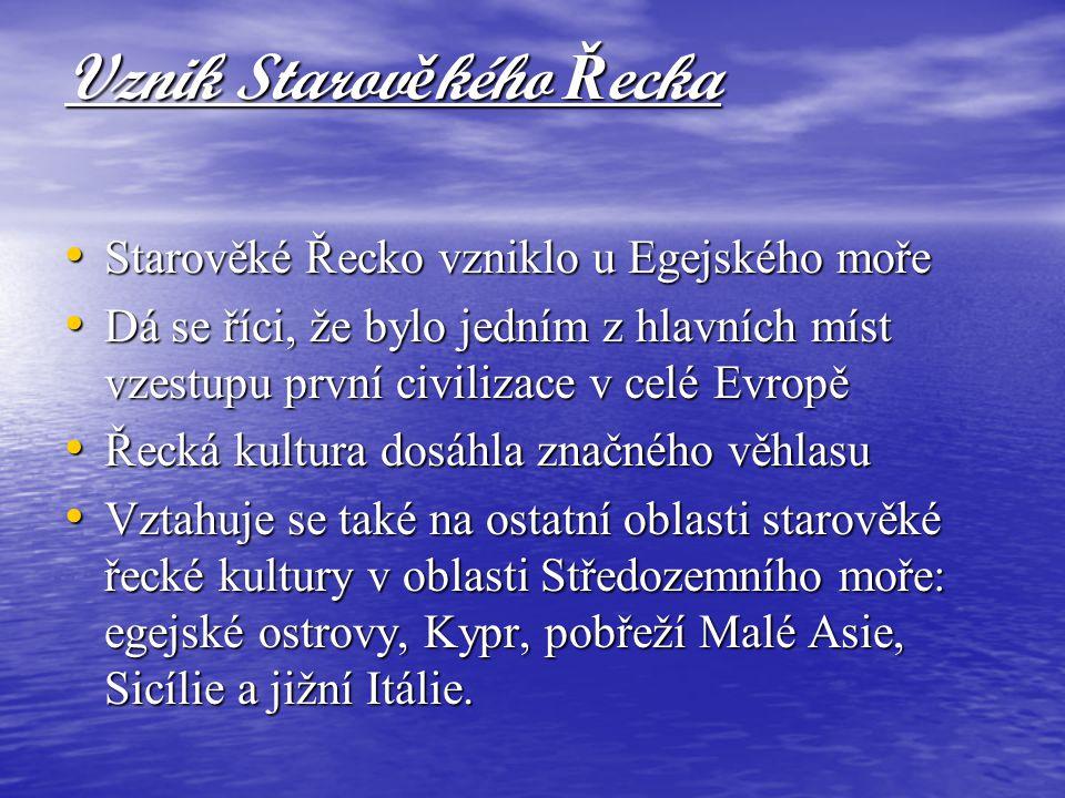 Vznik Starověkého Řecka