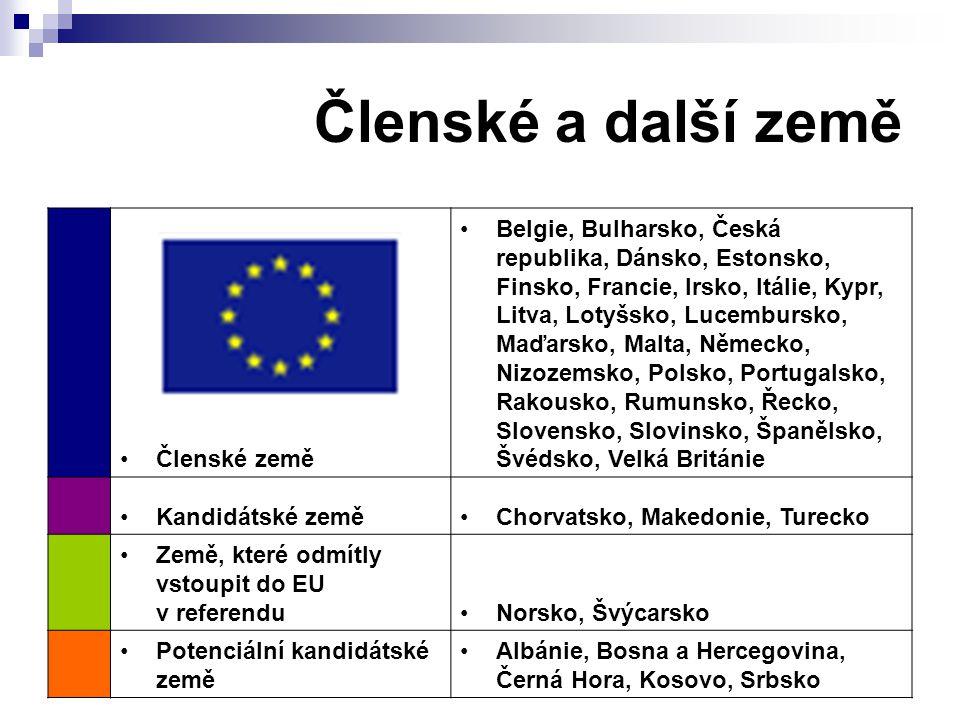Členské a další země Členské země