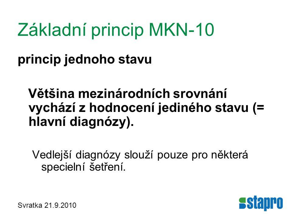 Základní princip MKN-10 princip jednoho stavu