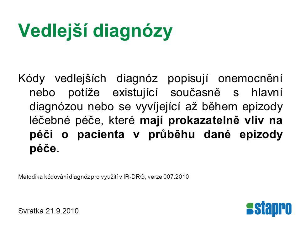 Vedlejší diagnózy