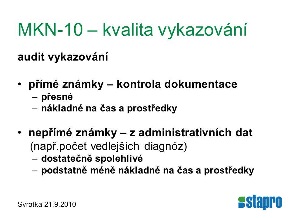 MKN-10 – kvalita vykazování