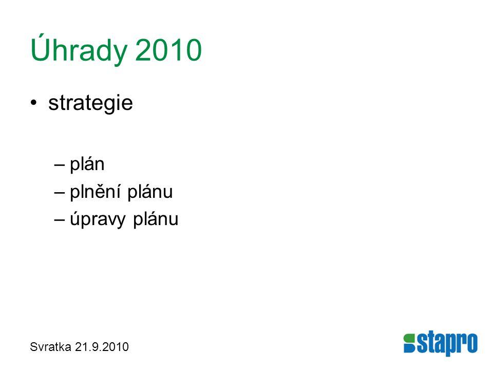 Úhrady 2010 strategie plán plnění plánu úpravy plánu Svratka 21.9.2010