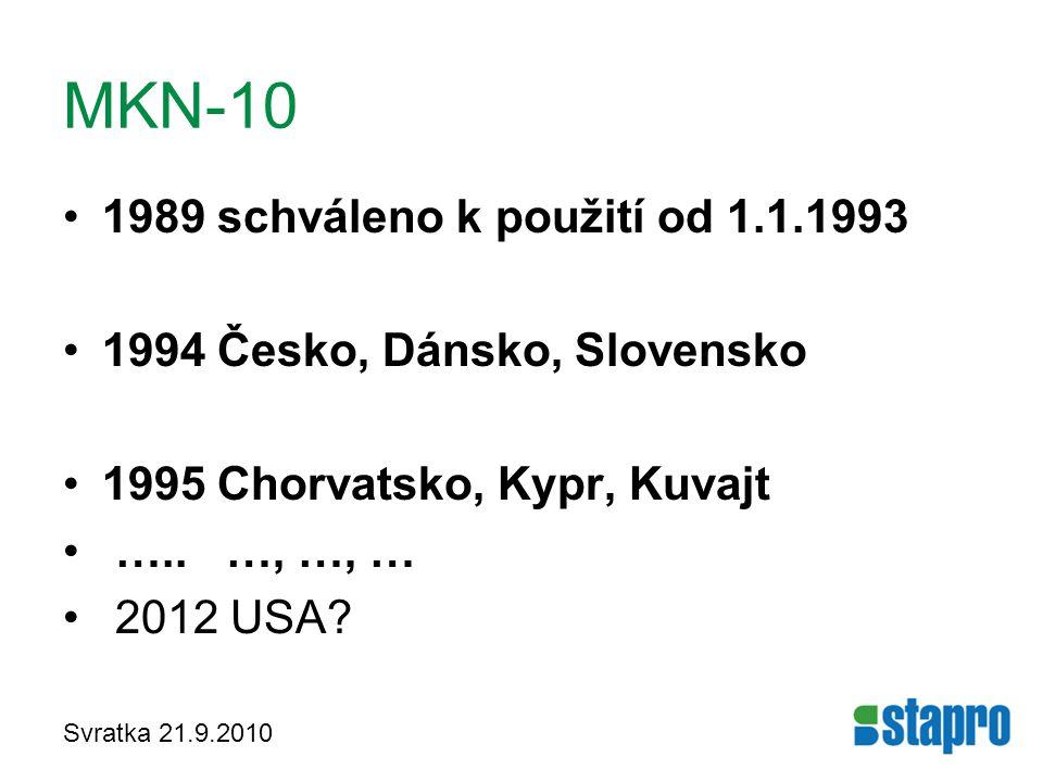 MKN-10 1989 schváleno k použití od 1.1.1993