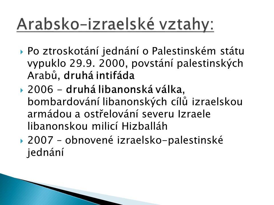 Arabsko–izraelské vztahy: