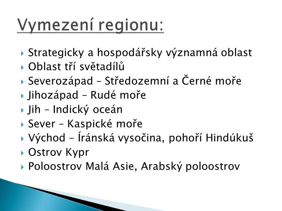 Vymezení regionu: Strategicky a hospodářsky významná oblast