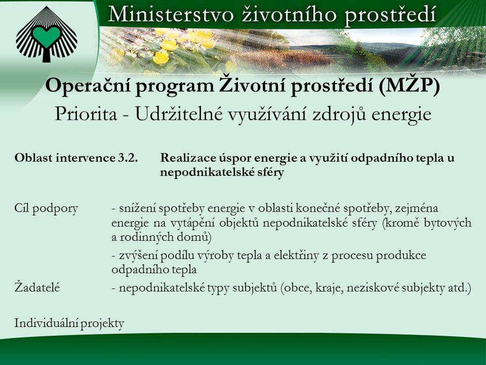 Operační program Životní prostředí (MŽP)