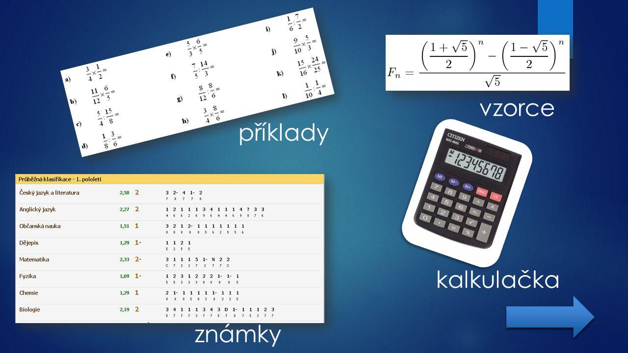 vzorce příklady kalkulačka známky