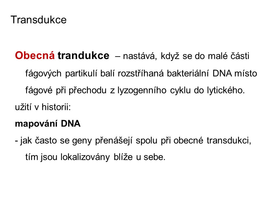 Transdukce