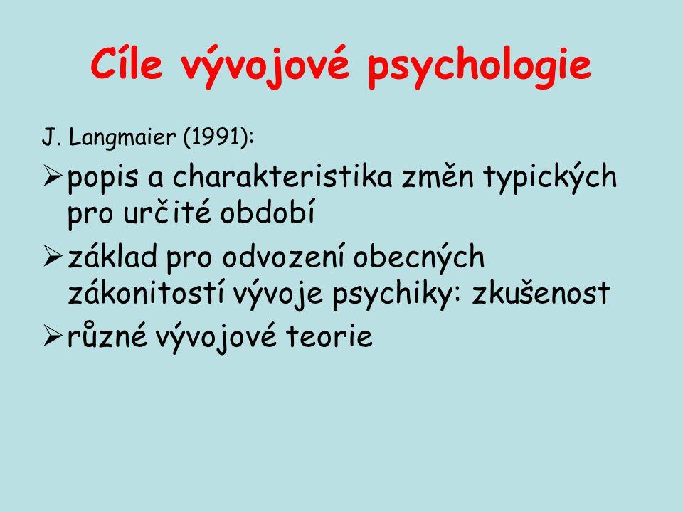 Cíle vývojové psychologie