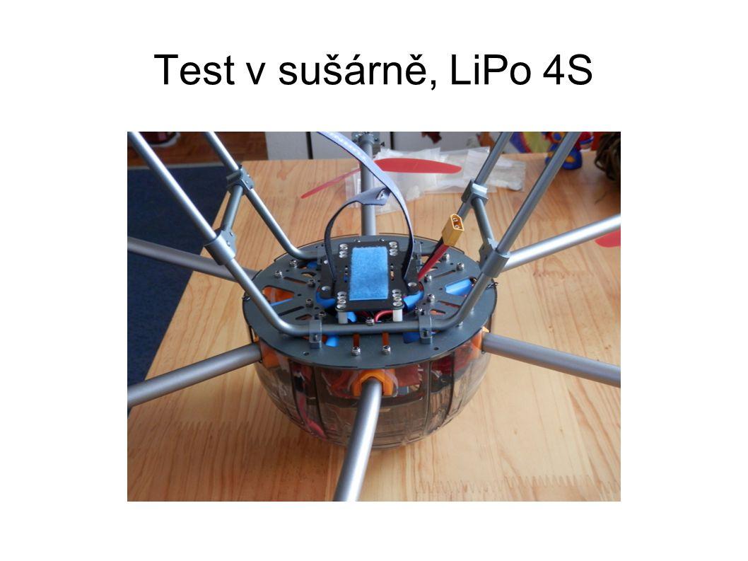 Test v sušárně, LiPo 4S