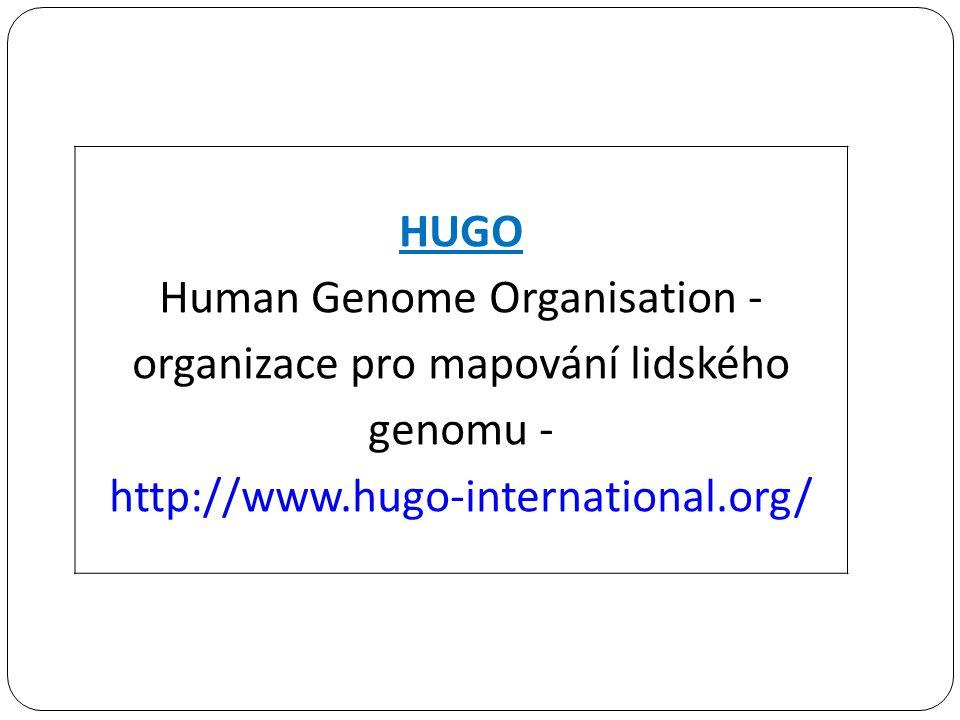 Human Genome Organisation - organizace pro mapování lidského genomu -