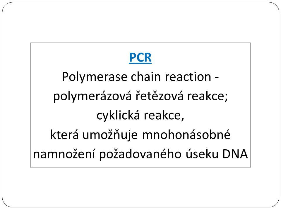která umožňuje mnohonásobné namnožení požadovaného úseku DNA