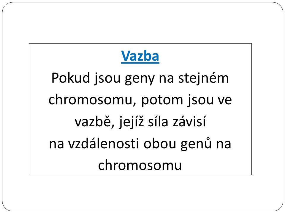 na vzdálenosti obou genů na chromosomu
