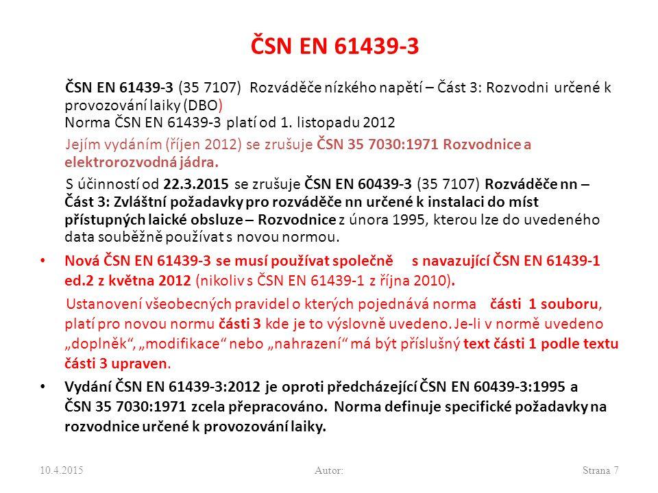 ČSN EN 61439-3