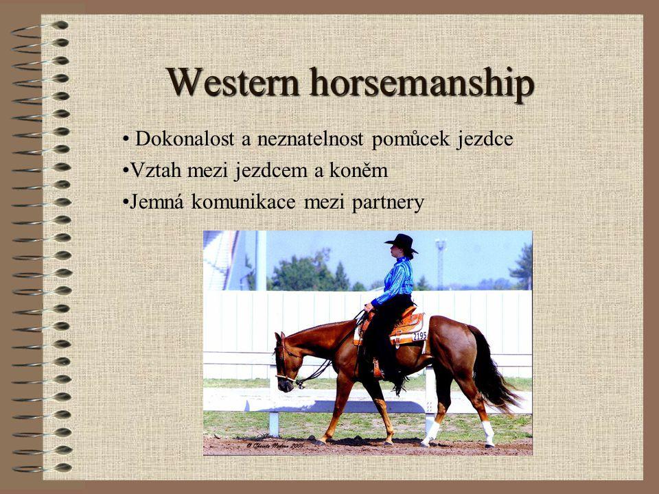 Western horsemanship Dokonalost a neznatelnost pomůcek jezdce