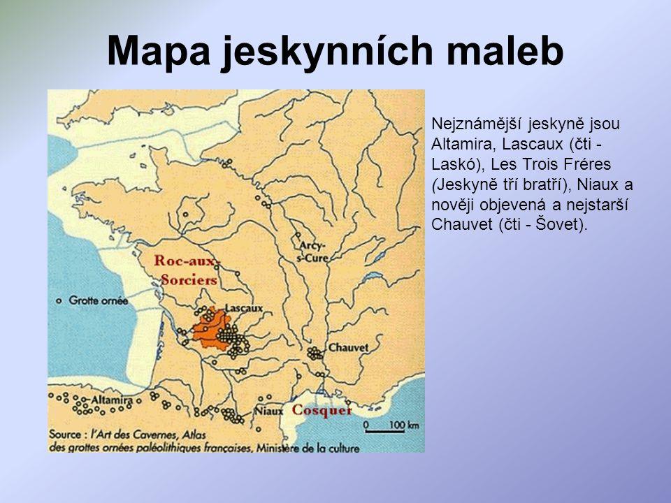 Mapa jeskynních maleb