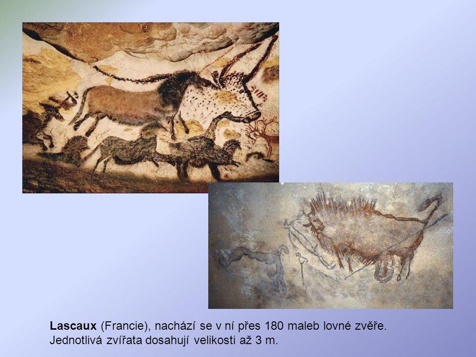 Lascaux (Francie), nachází se v ní přes 180 maleb lovné zvěře