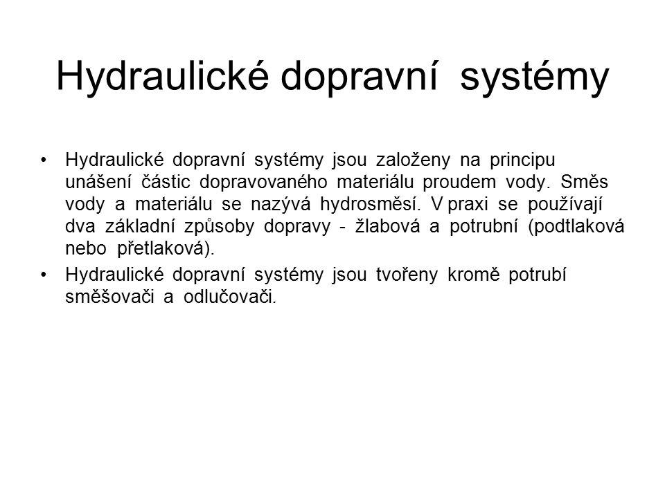 Hydraulické dopravní systémy