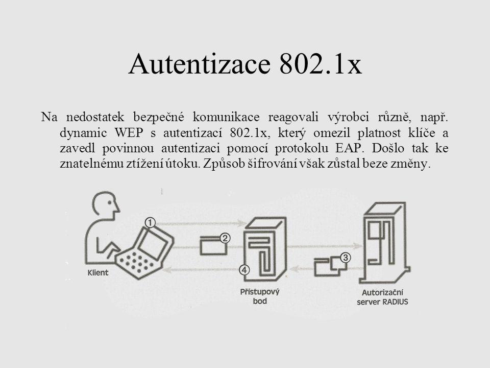 Autentizace 802.1x