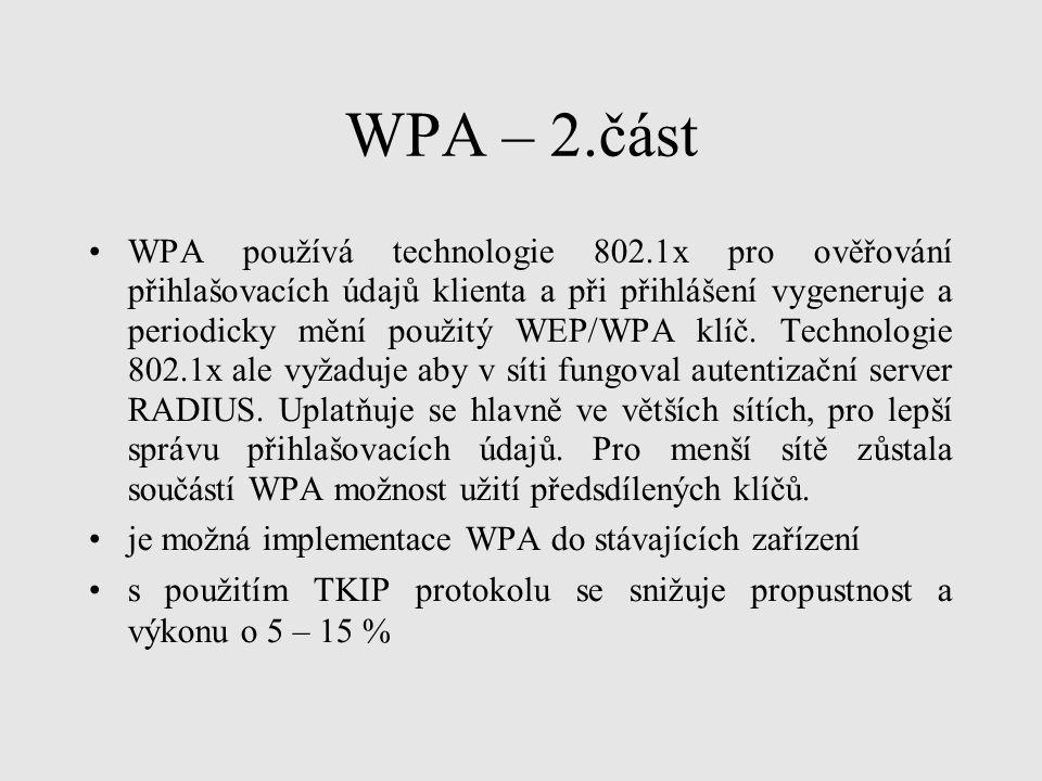 WPA – 2.část