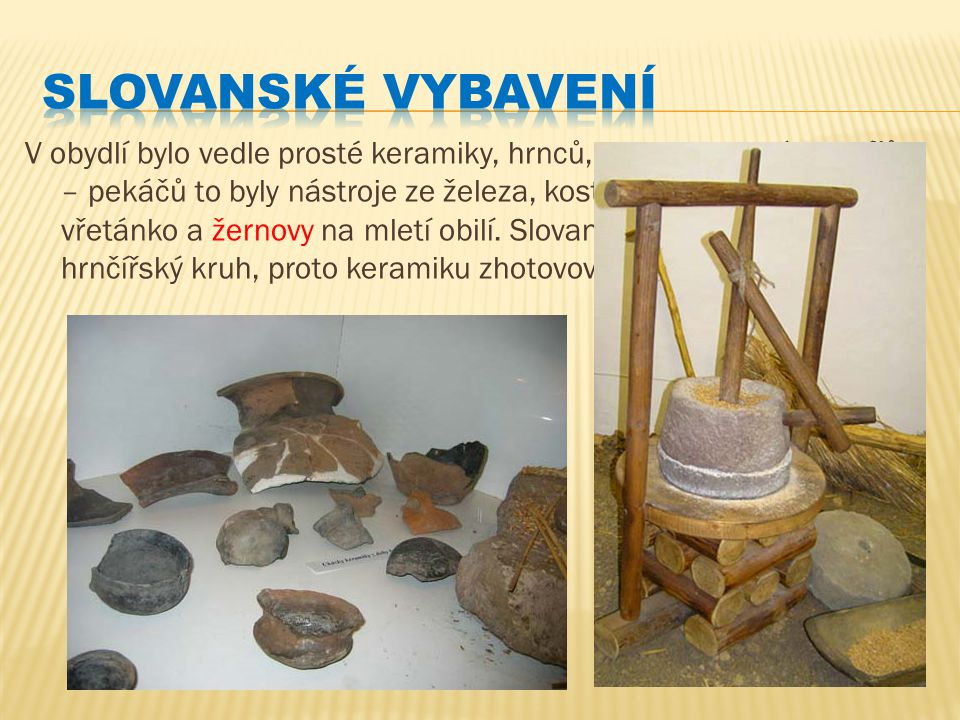 Slovanské vybavení