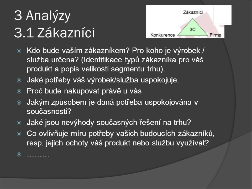 3 Analýzy 3.1 Zákazníci