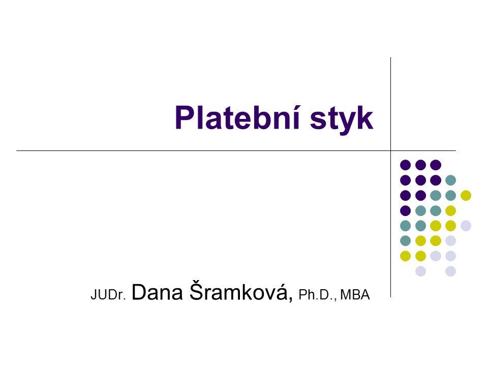 JUDr. Dana Šramková, Ph.D., MBA