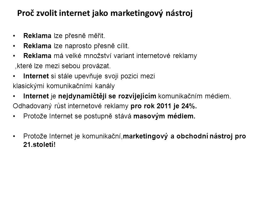 Proč zvolit internet jako marketingový nástroj