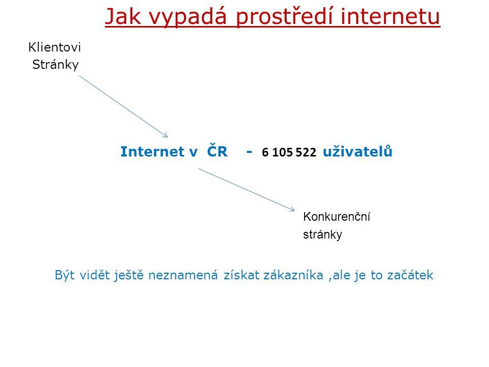 Jak vypadá prostředí internetu