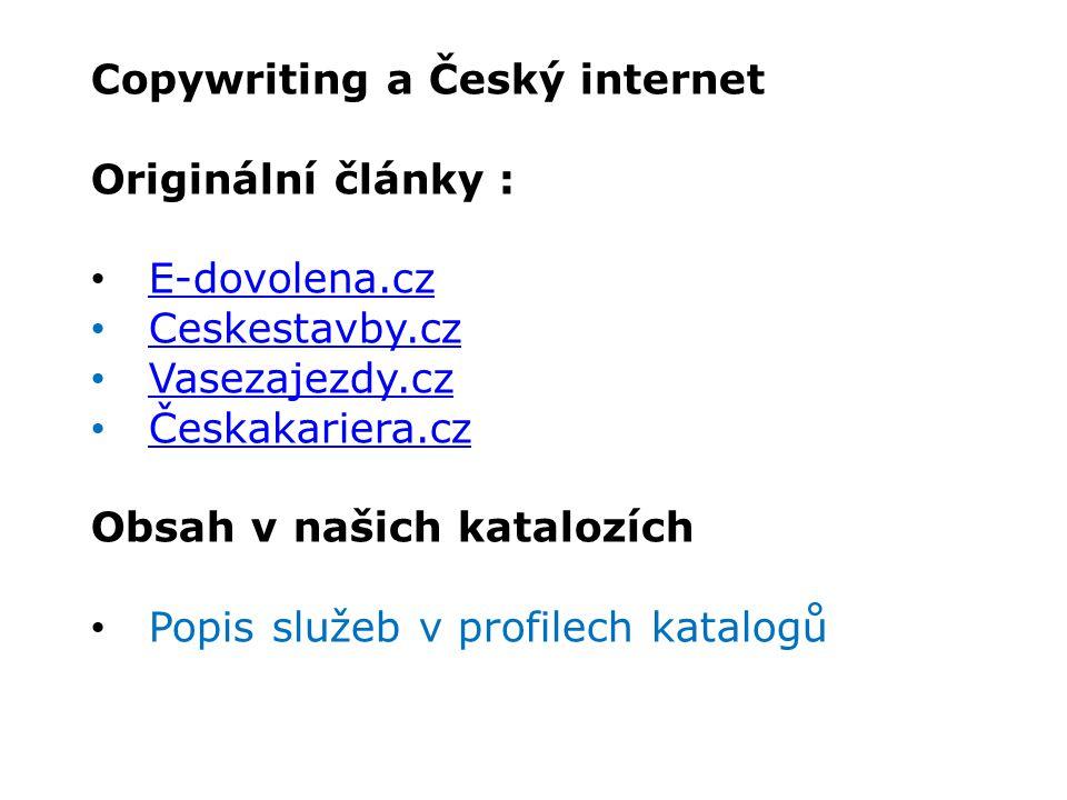 Copywriting a Český internet