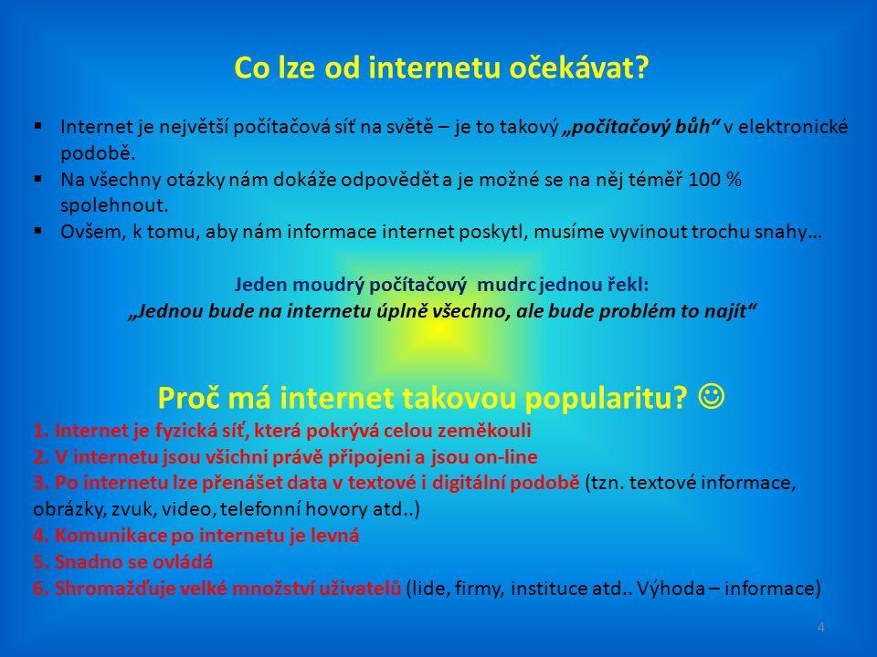 Co lze od internetu očekávat