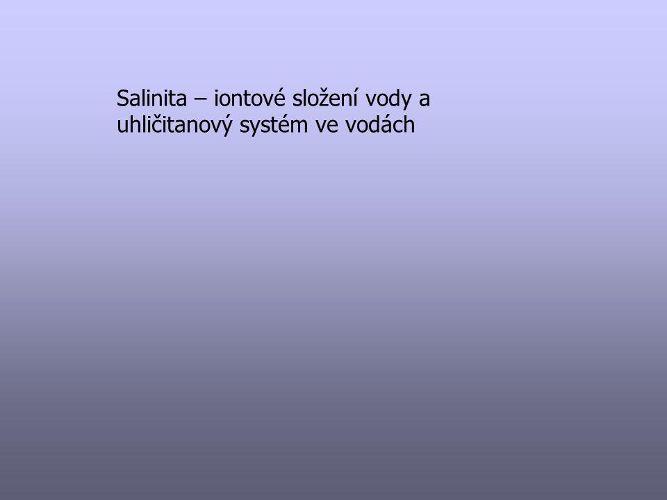 Salinita – iontové složení vody a