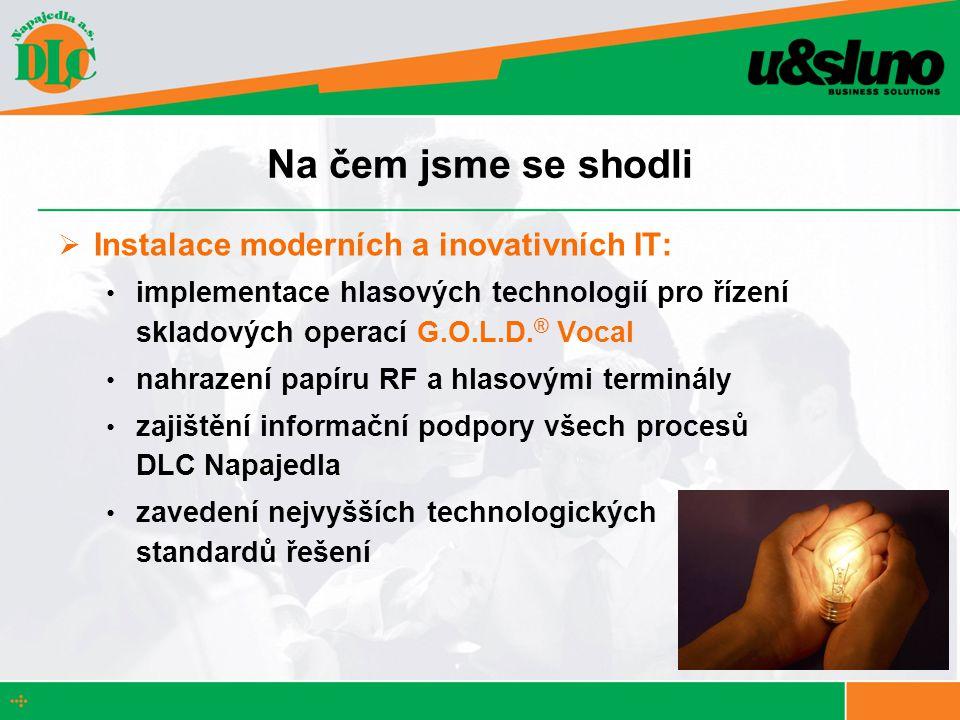 Na čem jsme se shodli Instalace moderních a inovativních IT: