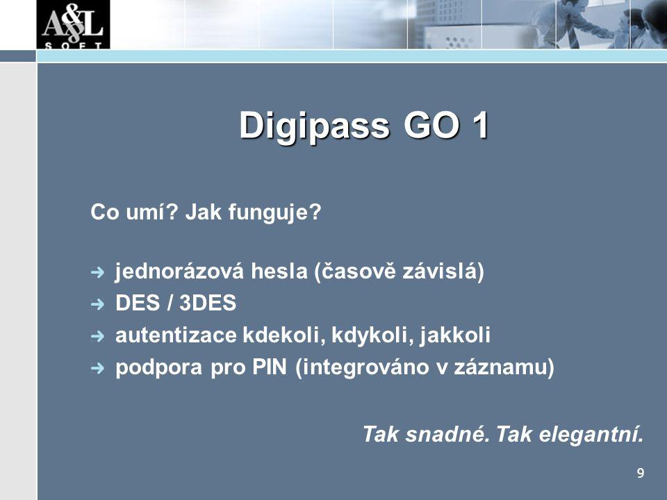 Digipass GO 1 Kde lze využít